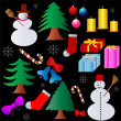 Christmas elements collection — Stockvector #2070313