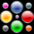 Vector de stock : Glossy buttons