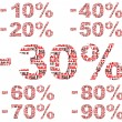 Vector de stock : Discount numbers- vector