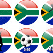 World Cup 2010, South Africa — Stock Vector