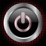 pulsante di accensione - vettoriale — Vettoriale Stock