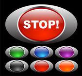 Blank web knappar — Stockvektor