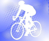 Bicyclist on the abstract background — Stockvektor