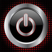 Power button - vector — Vector de stock