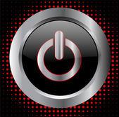 Power knappen - vektor — Stockvektor