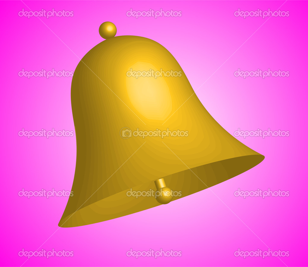 golden bell - vector — Stock Vector #2070560