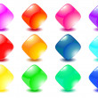 Set colorful buttons - Stock Vector