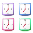 Royalty-Free Stock Vector Image: Set clocks