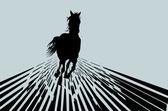 Vector horse. Background — Stock Vector