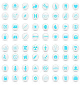 Medical buttons. Vector illustration — Stock Vector