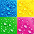 Set backgrounds with colorful bubbles — Stock Photo