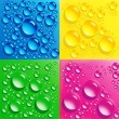 Stockfoto: Set backgrounds with colorful bubbles