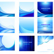 Abstract vector background set - Stok Vektr