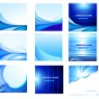 Abstract vector background set - Imagens vectoriais em stock