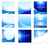 Abstract vector background set — Stock Vector