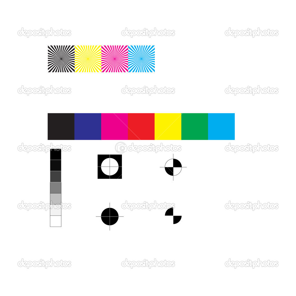 CMYK Press Marks — Stockvectorbeeld #2425141