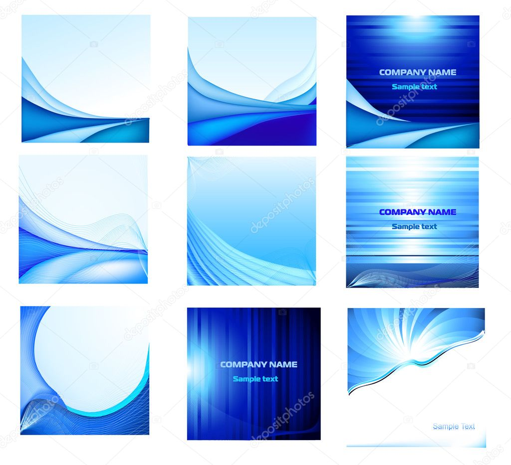 Abstract vector background set  — ベクター素材ストック #2425321