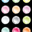 Set of colorful jewels. - Stock Vector