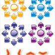 Colorful glossy web stickers - Stockvectorbeeld