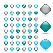Vector beautiful icon set - Stock Vector
