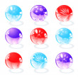 Royalty-Free Stock Vector Image: Set glossy web buttons