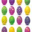 Set easter eggs — Stock Vector