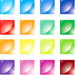 set colorful buttons — Stock Vector