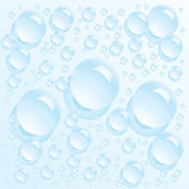 Clean water bubbles — Stock Vector