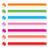 Vector glossy colorful buttons — Stock Vector