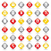 Set web buttons — Stock Vector