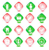 Set medicine vector icons — Stock Vector