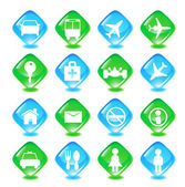 Set transport vector icons — Stock Vector