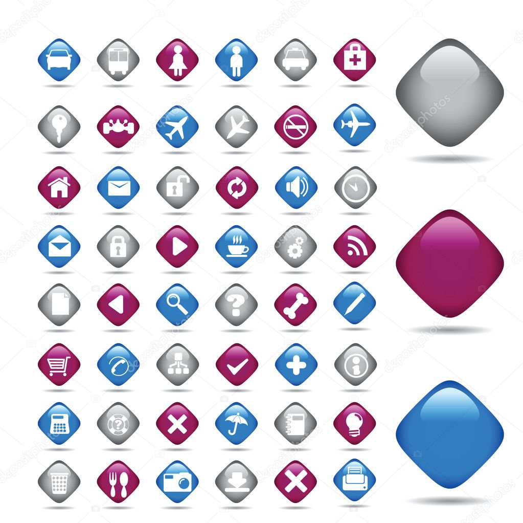 Set transport vector icons — Stock Vector #2576358