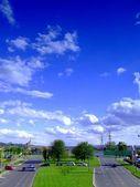 Street and sky — Stock Photo