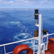 View from stern of ocean ship — Stock Photo