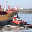 Stock Photo: Chemical tanker entering port