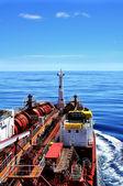 Chemical tanker at sea — Stock Photo