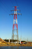 High-voltage power line — Stock Photo