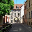Street of old riga latvia — Stock Photo