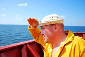 Sailor on the watch — Stock Photo