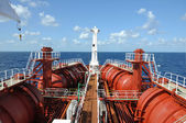 Deck of chemical tanker — Foto Stock