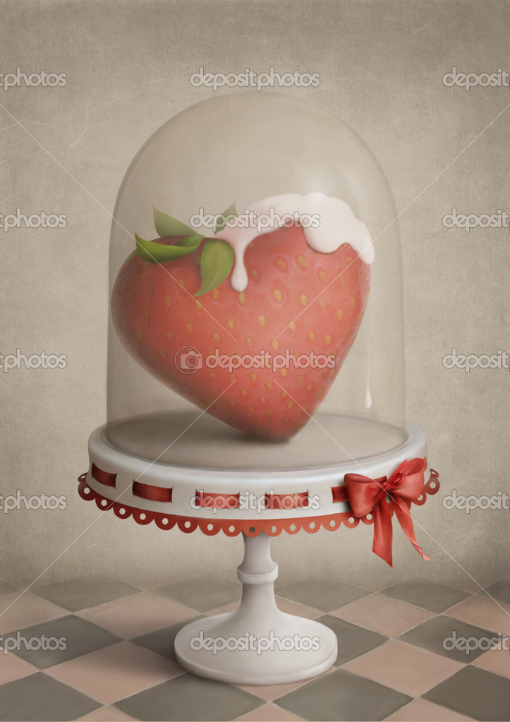 Strawberry Holiday is a beautiful greeting card for Valentine's Day — Stock Photo #2042890