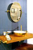 Brass bathroom — Stock Photo