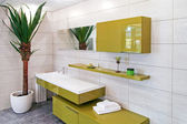 Zielony łazienka — Zdjęcie stockowe