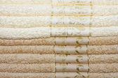 Beige towels — Stock Photo