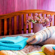 Royalty-Free Stock Photo: Purple bedroom
