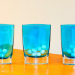 Royalty-Free Stock Photo: Blue glass
