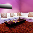 Purple living room — Foto de Stock