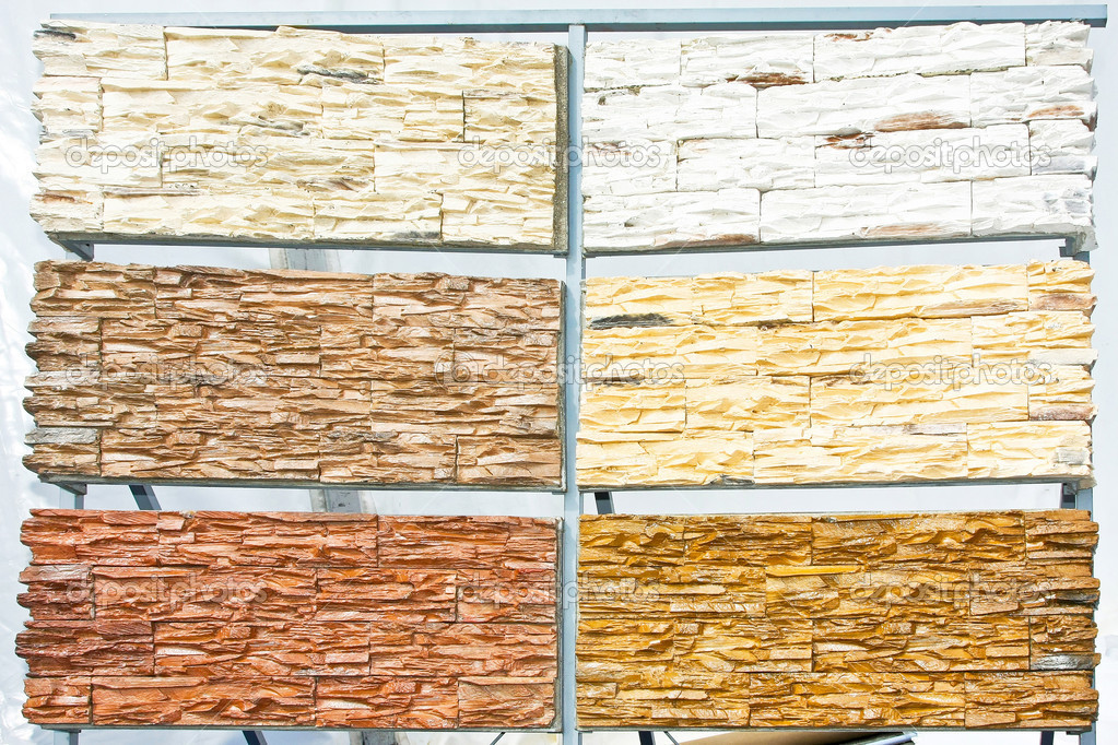 Six variations of stone tiles texture samples — Stock Photo #2079008