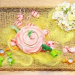 Easter tray — Stock Photo